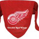 Detroit Red Wings Pet Dog Hockey Jersey Bandana M/L
