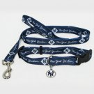 New York Yankees Pet Dog Leash Set Collar ID Tag XS