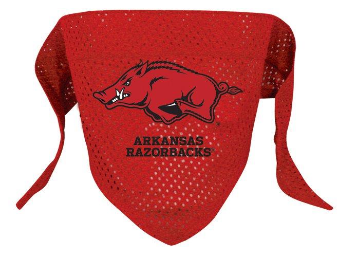 Arkansas University Razorbacks Pet Dog Football Jersey Bandana M/L