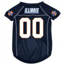 Illinois University Fighting Illini Pet Dog Football Jersey XL