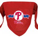 Philadelphia Phillies Pet Dog Baseball Jersey Bandana M/L