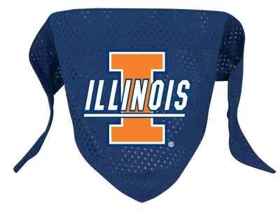 Illinois Fighting Illini Pet Dog Football Jersey Bandana S/M