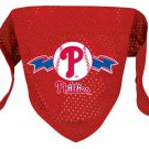 Philadelphia Phillies Pet Dog Baseball Jersey Bandana S/M