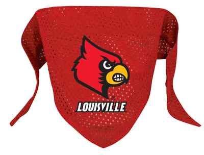 Louisville University Cardinals Pet Dog Football Jersey Bandana S/M