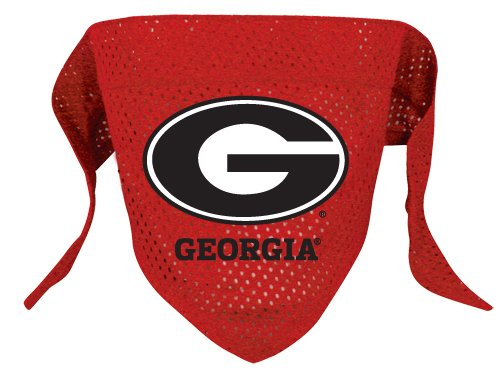 Georgia University Bulldogs Pet Dog Football Jersey Bandana S/M
