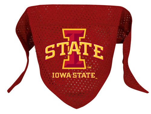 Iowa State Cyclones Pet Dog Football Jersey Bandana S/M