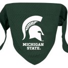 Michigan State Spartans Pet Dog Football Jersey Bandana M/L