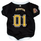 Pittsburgh Pirates Pet Dog Baseball Jersey w/Buttons Medium