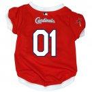 St. Louis Cardinals Pet Dog Baseball Jersey w/Buttons XL