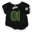 Oakland A's Athletics Pet Dog Baseball Jersey w/Buttons Large