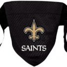 New Orleans Saints Pet Dog Football Jersey Bandana S/M