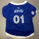 Toronto Blue Jays Pet Dog Baseball Jersey w/Buttons Small Blue