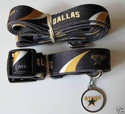 Dallas Stars Pet Dog Leash Set Collar ID Tag Gift Size Small