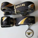 Dallas Stars Pet Dog Leash Set Collar ID Tag Gift Size Small