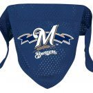 Milwaukee Brewers Pet Dog Baseball Jersey Bandana M/L