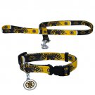 Boston Bruins Pet Dog Leash Set Collar ID Tag Small