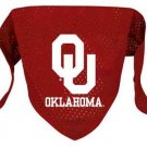Oklahoma University Sooners Pet Dog Football Jersey Bandana M/L