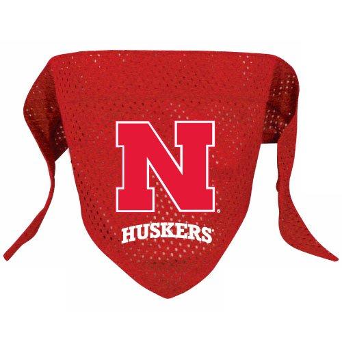 Nebraska University Cornhuskers Pet Dog Football Jersey Bandana S/M
