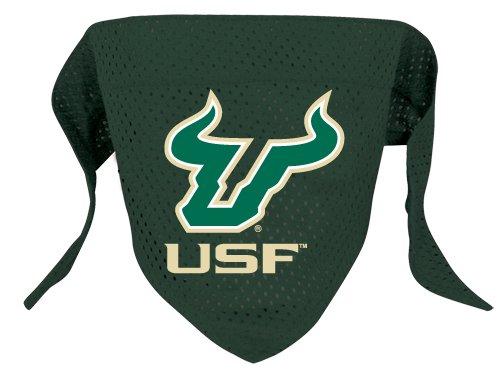 South Florida University Bulls Pet Dog Football Jersey Bandana S/M