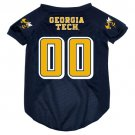 Georgia Tech University Yellow Jackets Pet Dog Football Jersey Large