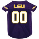 LSU Louisiana State University Tigers Pet Dog Football Jersey Small