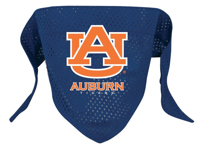 Auburn University Tigers Pet Dog Football Jersey Bandana S/M
