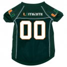 Miami University Hurricanes Pet Dog Football Jersey Large
