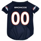 Denver Broncos Pet Dog Football Jersey Medium