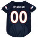 Denver Broncos Pet Dog Football Jersey XL