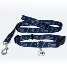 St. Louis Rams Pet Dog Leash Set Collar ID Tag Medium