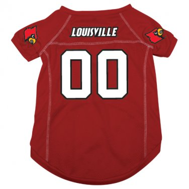 Louisville University Cardinals Pet Dog Football Jersey Medium