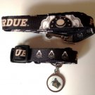 Purdue University Boilermakers Pet Dog Set Leash Collar ID Tag Large