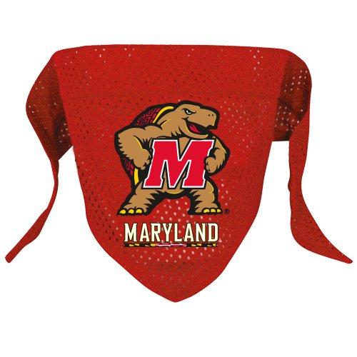 Maryland University Terrapins  Pet Dog Football Jersey Bandana S/M