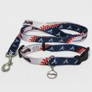 Atlanta Braves Pet Dog Leash Set Collar ID Tag Small