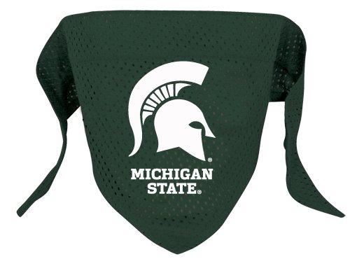 Michigan State Spartans Pet Dog Football Jersey Bandana S/M