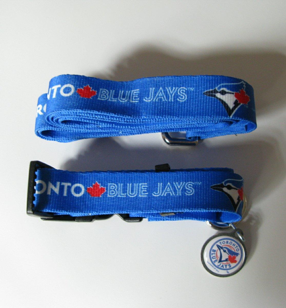Toronto Blue Jays Pet Dog Leash Set Collar ID Tag Small