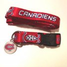 Montreal Canadiens Pet Dog Leash Set Collar ID Tag Medium