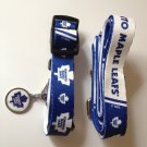 Toronto Maple Leafs Pet Dog Leash Set Collar ID Tag Gift Size Medium