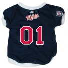 Minnesota Twins Pet Dog Baseball Jersey w/Buttons Medium