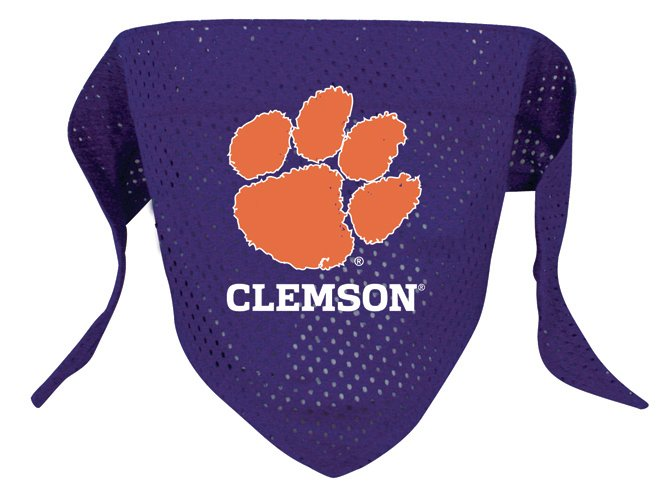 Clemson University Tigers Pet Dog Football Jersey Bandana M/L