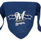 Milwaukee Brewers Pet Dog Baseball Jersey Bandana S/M Cute