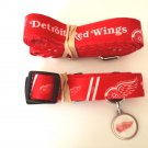 Detroit Red Wings Pet Dog Leash Set Collar ID Tag Large