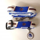 Boise State University Broncos Pet Dog Set Leash Collar ID Tag Large