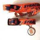 Syracuse University Orangemen Pet Dog Set Leash Collar ID Tag Medium