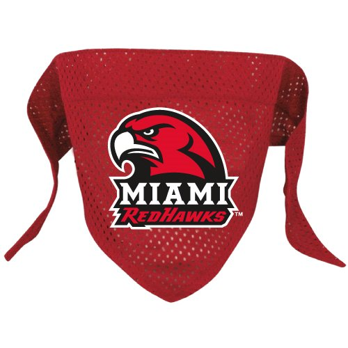Miami Of Ohio University Redhawks Pet Dog Football Jersey Bandana S/M