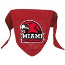 Miami Of Ohio University Redhawks Pet Dog Football Jersey Bandana S/M