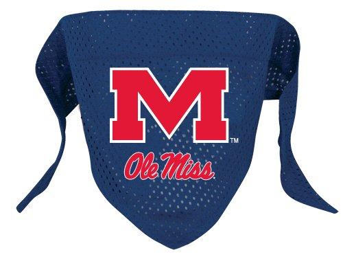 Mississippi University Rebels Pet Dog Football Jersey Bandana S/M