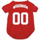 Wisconsin University Badgers Pet Dog Football Jersey Large