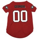 Georgia University Bulldogs Pet Dog Football Jersey Small