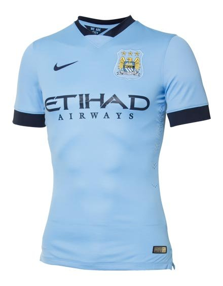 Nike Man City Home Players Shirt - Mens - Large (Brand New)